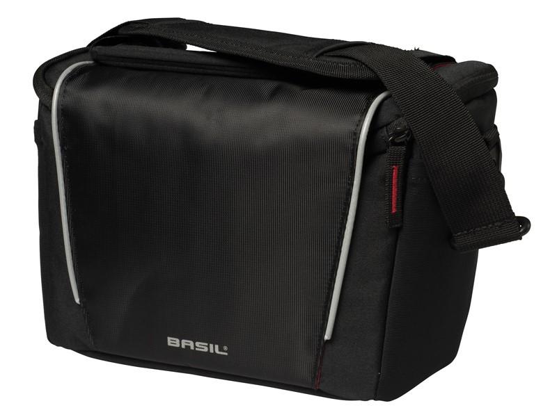 Torba na kierownicę BASIL SPORT DESIGN FRONT BAG 7L, BasEasy System, czarna (bez mocowania) (NEW)