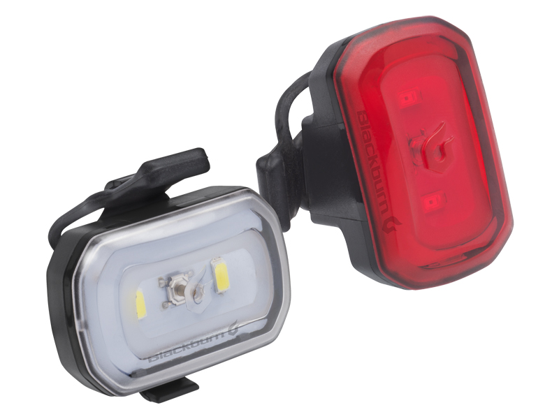 Zestaw lampki BLACKBURN CLICK USB przód 60 lumenów, CLICK USB tył 20 lumenów czarne (NEW)