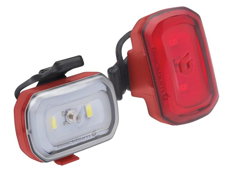 Zestaw lampki BLACKBURN CLICK USB przód 60l, CLICK USB tył 20l czerwone