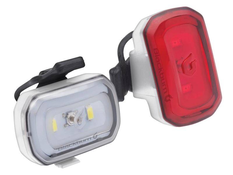 Zestaw lampki BLACKBURN CLICK USB przód 60l, CLICK USB tył 20l białe