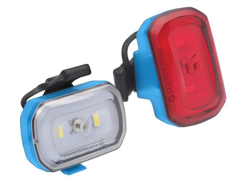 Zestaw lampki BLACKBURN CLICK USB przód 60l, CLICK USB tył 20l niebieskie