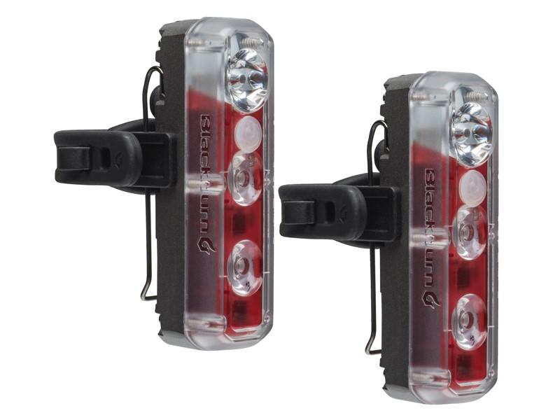 Zestaw Lampki BLACKBURN 2'FER XL USB przód 200 lumenów tył 40 lumenów czarna 2szt