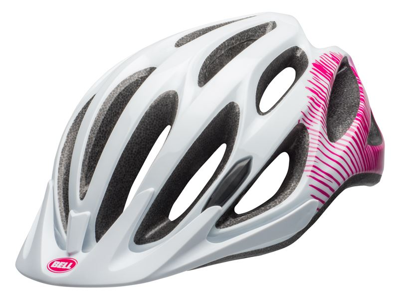 Kask mtb BELL COAST JOY RIDE gloss white cherry fibers roz. Uniwersalny (50–57 cm)