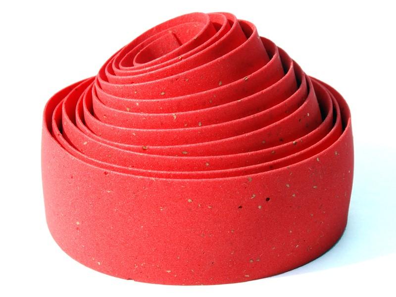 Owijka na kierownicę BIKE RIBBON CORK GEL gr.2,5mm czerwona (NEW)