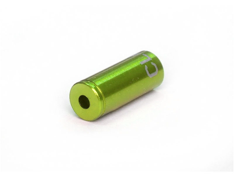 Końcówka pancerza hamulca CLARK'S 5mm CNC aluminium 100szt zielone