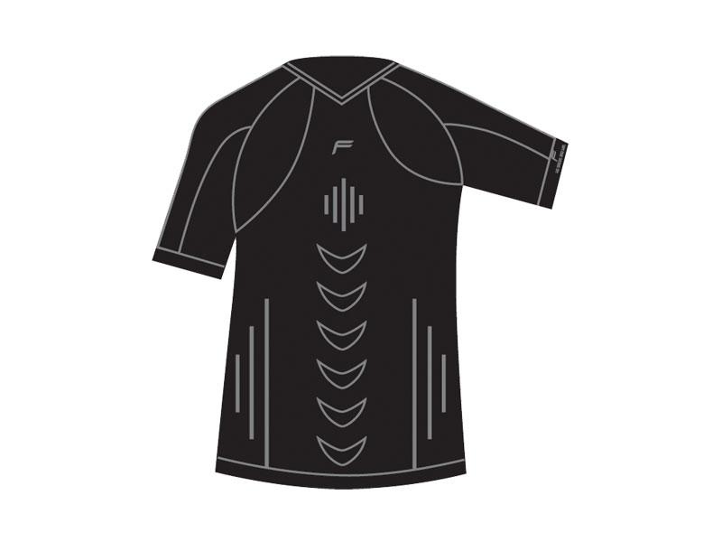 Koszulka męska FUSE ALLSEASON Megalight 200 T-Shirt / XL czarna