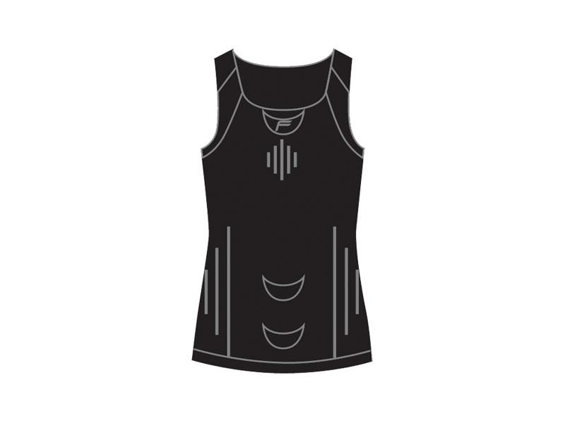 Koszulka damska FUSE ALLSEASON Megalight 200 bez rękawa / M czarna