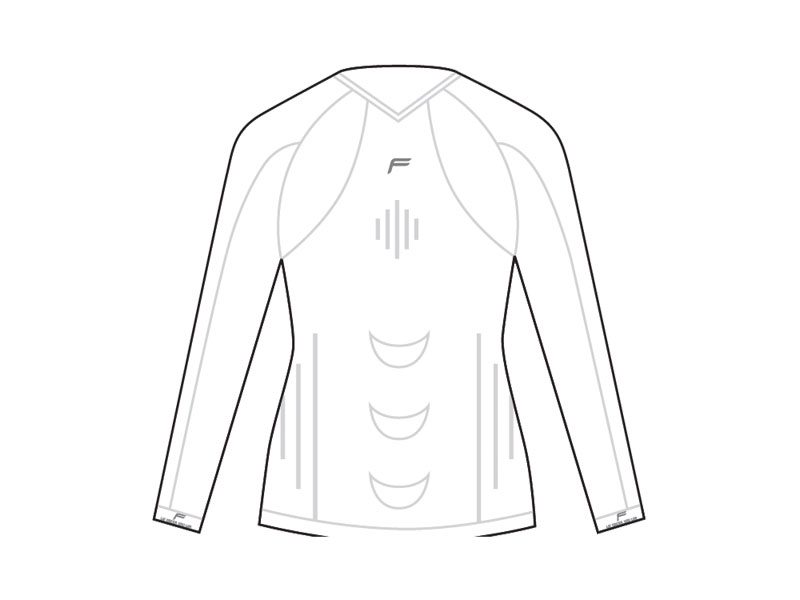 Koszulka damska FUSE STAYCOOL Megalight 140 długi rękaw / S biała