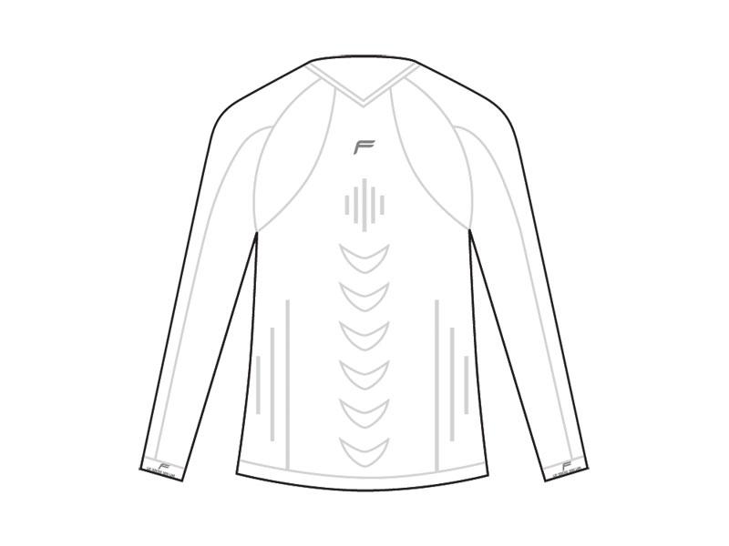 Koszulka męska FUSE STAYCOOL Megalight 140 długi rękaw / XXL biała