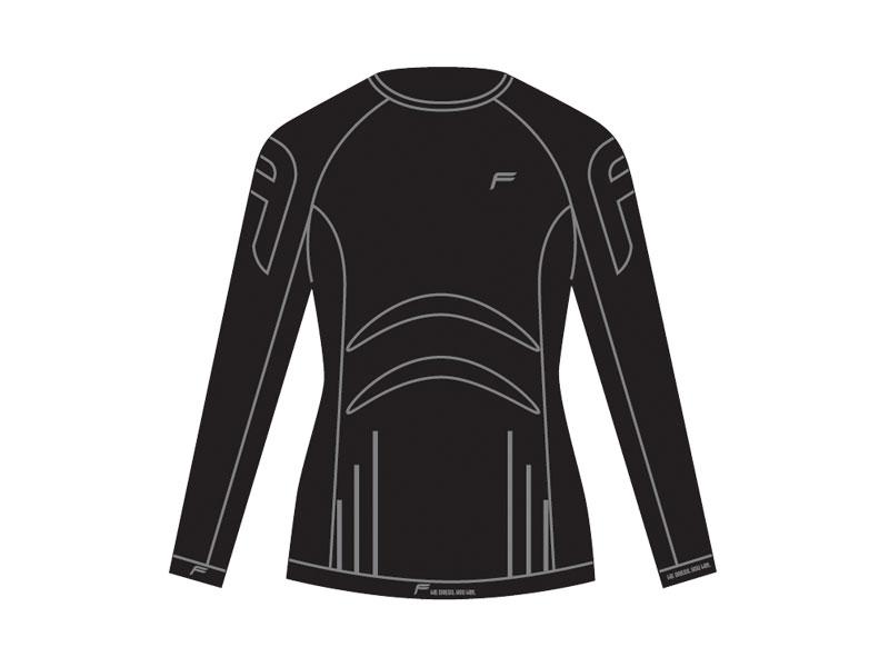 Koszulka damska FUSE ALLSEASON Megalight 200 długi rękaw / L czarna