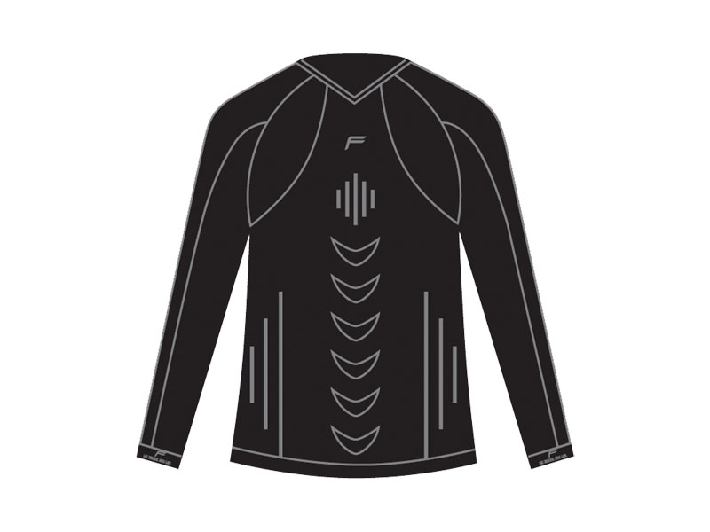 Koszulka męska FUSE ALLSEASON Megalight 200 długi rękaw / L czarna