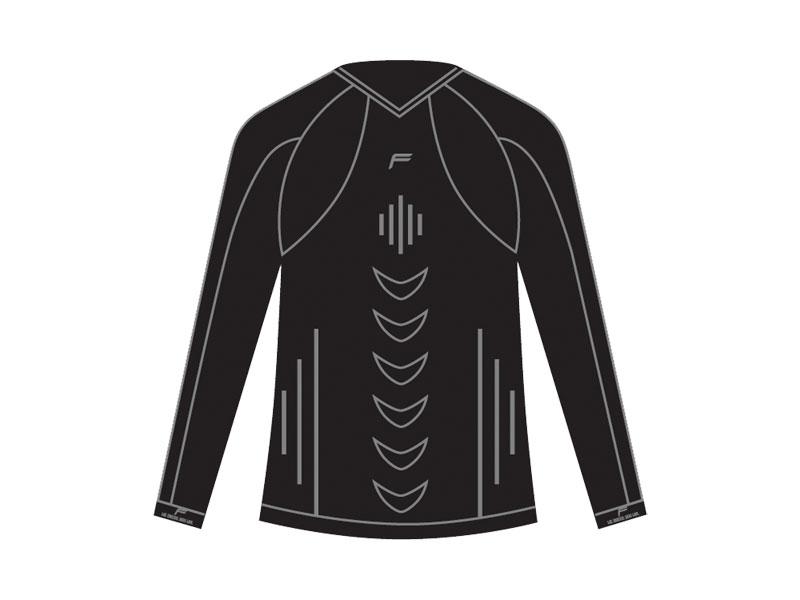 Koszulka męska FUSE ALLSEASON Megalight 200 długi rękaw / XXL czarna