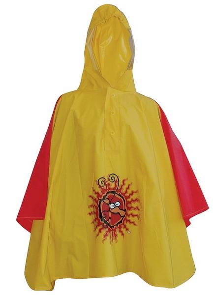 Ponczo dziecięce GIRAFFE żółte z kapturem  roz.92