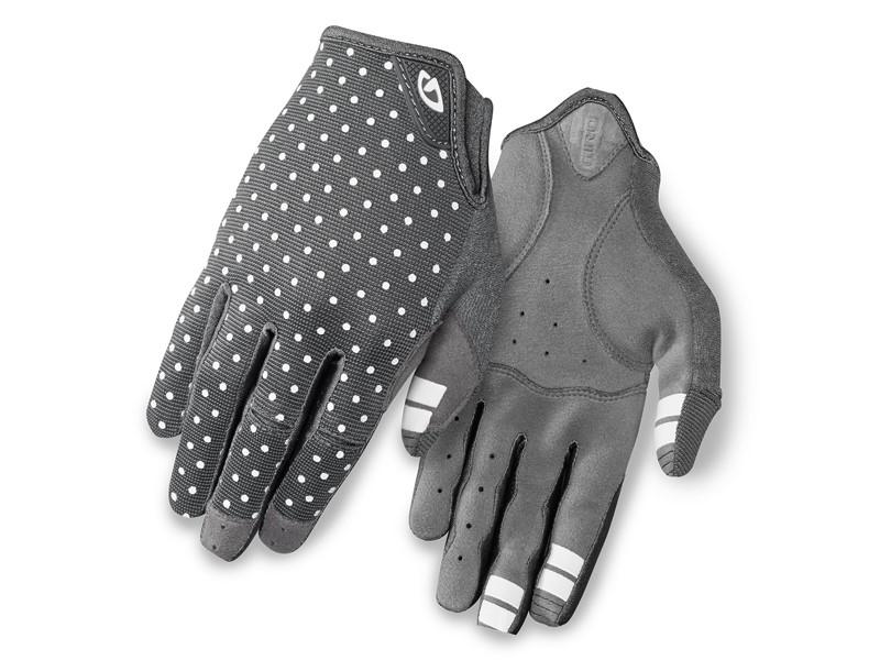 Rękawiczki damskie GIRO LA DND długi palec dark shadow white dots roz. L (obwód dłoni 190-210 mm / dł. dłoni 170-177 mm) (NEW)