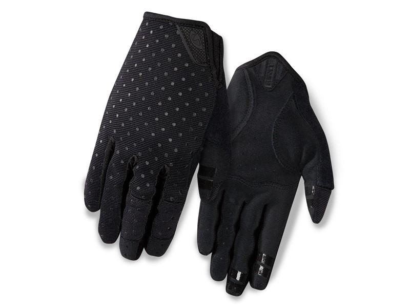 Rękawiczki damskie GIRO LA DND długi palec black dots roz. L