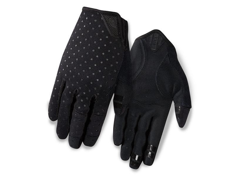 Rękawiczki damskie GIRO LA DND długi palec black dots roz. L (obwód dłoni 190-210 mm / dł. dłoni 170-177 mm) (NEW)