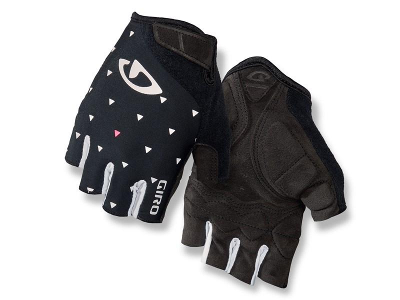 Rękawiczki damskie GIRO JAG'ETTE krótki palec black sharktooth roz. S (obwód dłoni 153-169 mm / dł. dłoni 153-160 mm) (NEW)