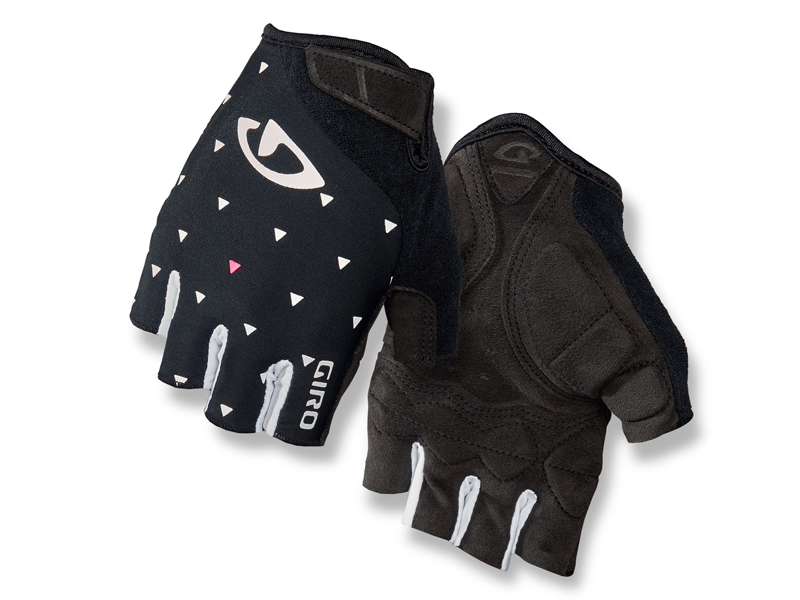 Rękawiczki damskie GIRO JAG'ETTE krótki palec black sharktooth roz. L (obwód dłoni 190-210 mm / dł. dłoni 170-177 mm) (NEW)