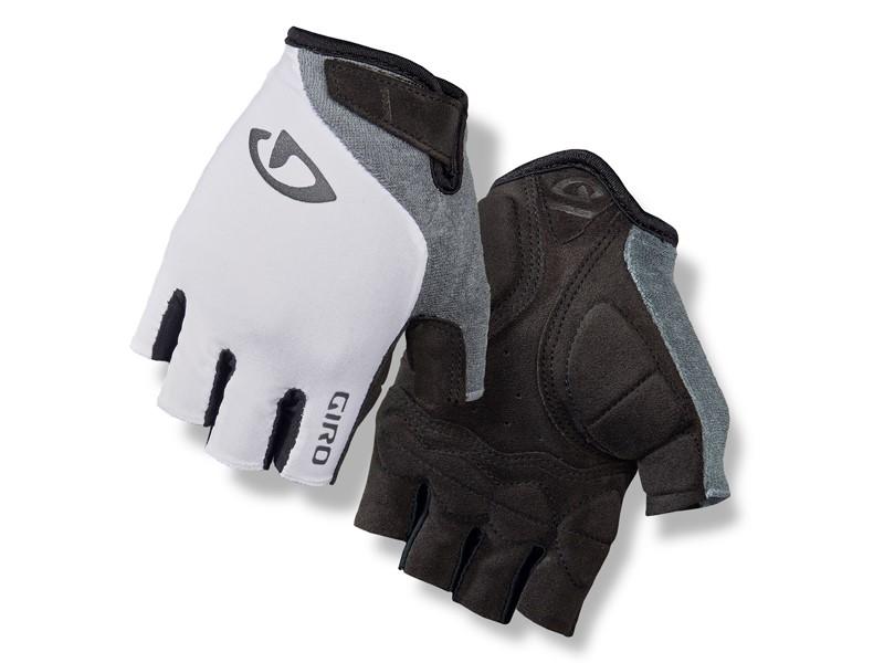 Rękawiczki damskie GIRO JAG'ETTE krótki palec white titanium roz. S (obwód dłoni 153-169 mm / dł. dłoni 153-160 mm) (NEW)