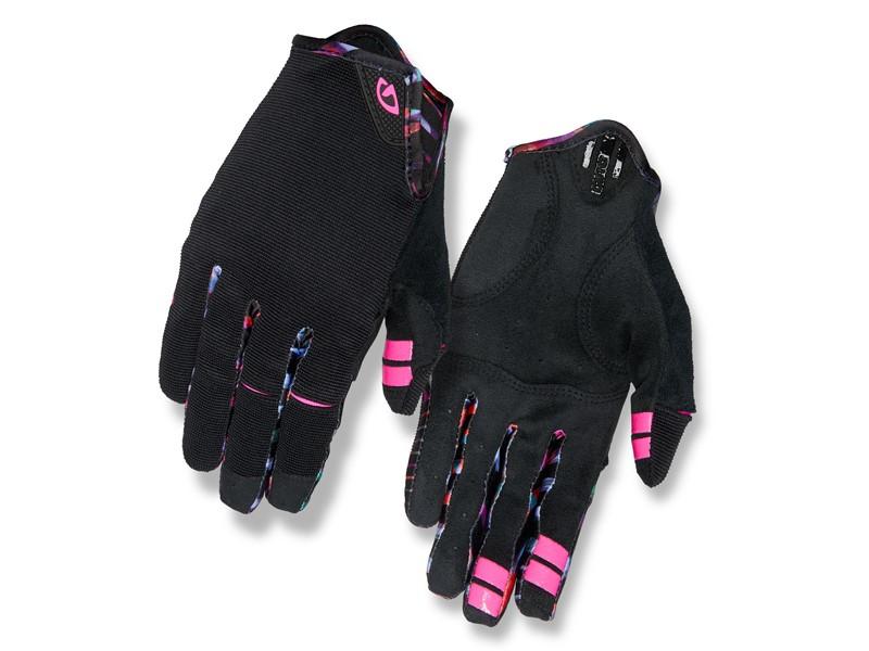 Rękawiczki damskie GIRO LA DND długi palec black tropical daze roz. S (obwód dłoni 153-169 mm / dł. dłoni 153-160 mm)