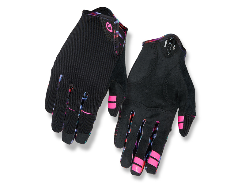 Rękawiczki damskie GIRO LA DND długi palec black tropical daze roz. M (obwód dłoni 170-189 mm / dł. dłoni 161-169 mm)