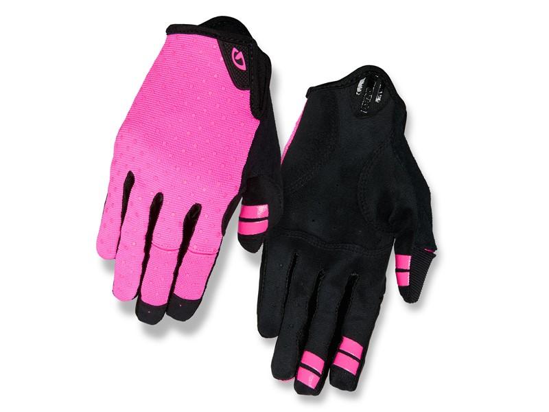 Rękawiczki damskie GIRO LA DND długi palec bright pink dots roz. M (obwód dłoni 170-189 mm / dł. dłoni 161-169 mm)