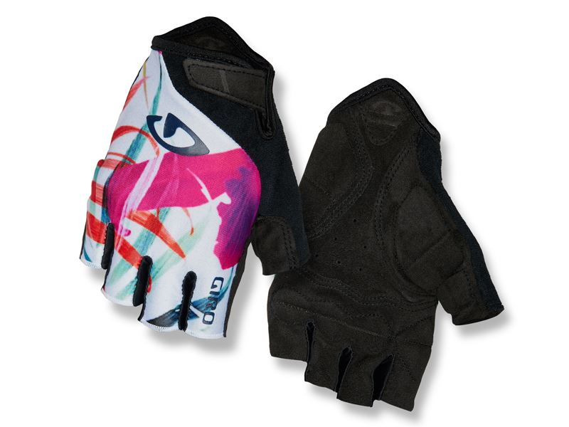 Rękawiczki damskie GIRO JAG'ETTE krótki palec floral roz. L (obwód dłoni 190-210 mm / dł. dłoni 170-177 mm)