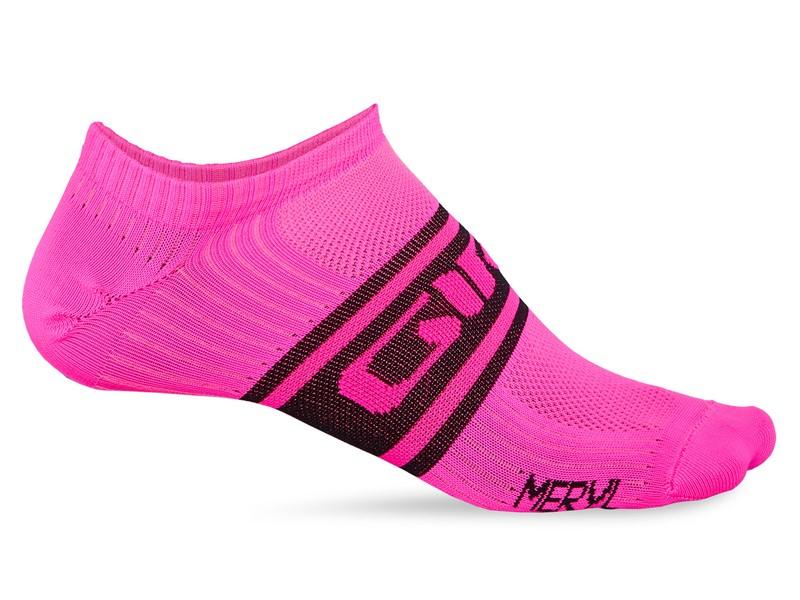 Skarpety GIRO CLASSIC RACER LOW bright pink black roz. M (40-42) (NEW)