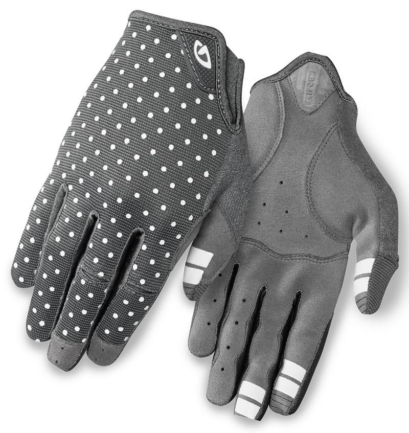 Rękawiczki damskie GIRO LA DND długi palec dark shadow white dots roz. XL (NEW)