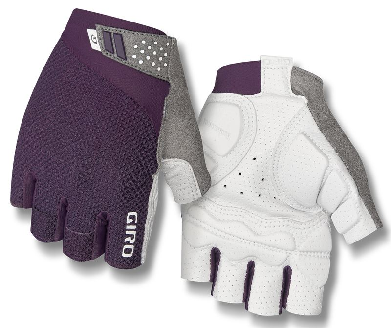 Rękawiczki damskie GIRO MONICA II GEL krótki palec dusty purple white roz. L (obwód dłoni 190-210 mm / dł. dłoni 170-177 mm) (NEW)