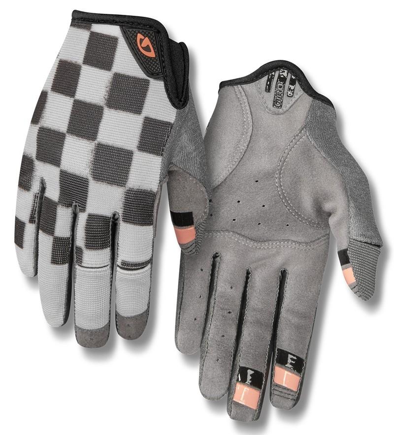 Rękawiczki damskie GIRO LA DND długi palec checkered peach roz. L (obwód dłoni 190-210 mm / dł. dłoni 170-177 mm) (NEW)