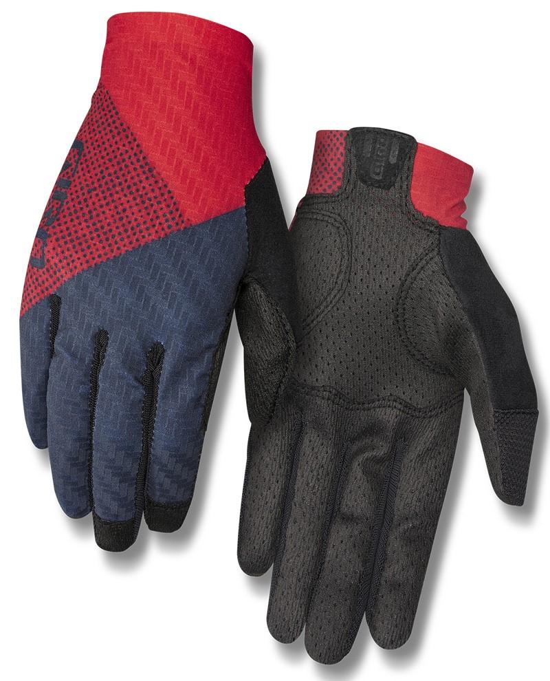 Rękawiczki damskie GIRO RIV'ETTE CS długi palec tri split red midnight roz. L (obwód dłoni 190-210 mm / dł. dłoni 170-177 mm) (NEW)
