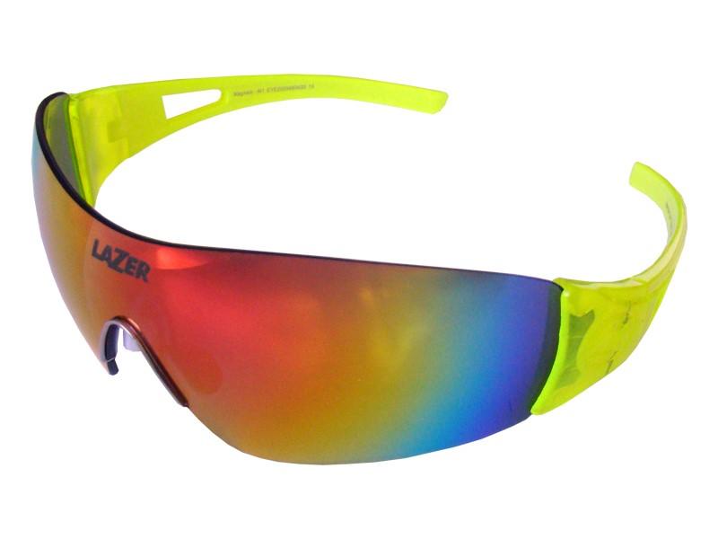 Okulary LAZER MAGNETO Flash Yellow (Smoke-Black Red REVO, Yellow, Clear)