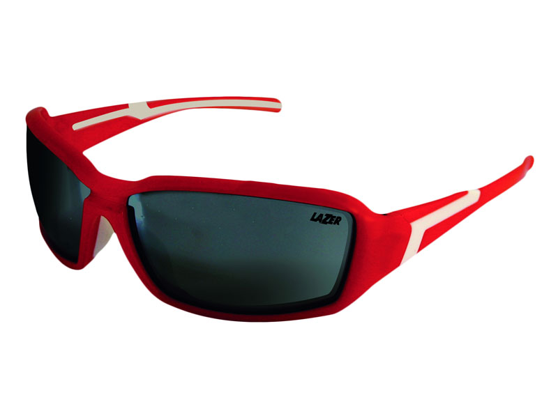 Okulary LAZER XENON Matte Red (Smoke-Silver Mirror)