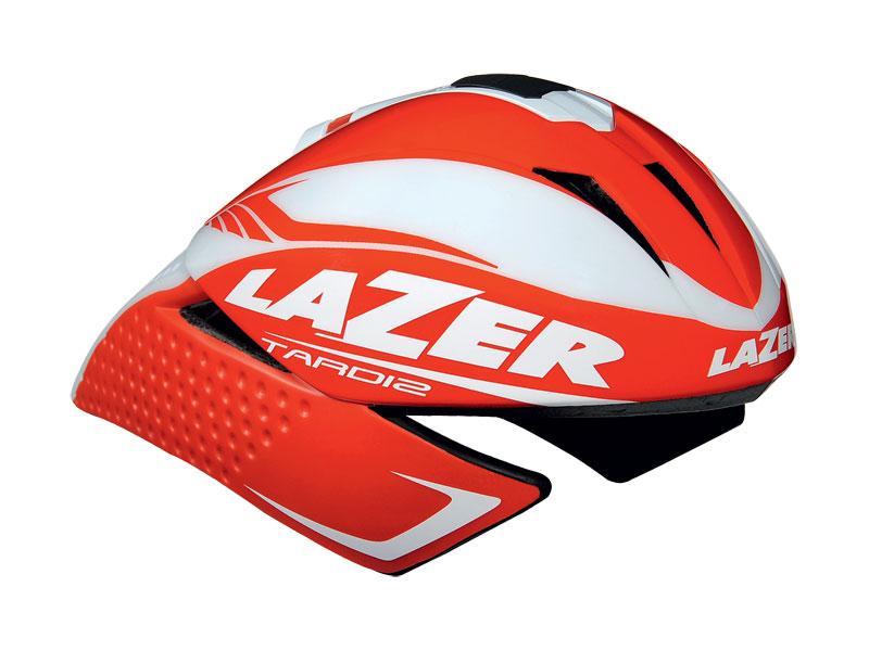 Kask czasowy LAZER TARDIZ L solid red glossy white mat 58-61 cm