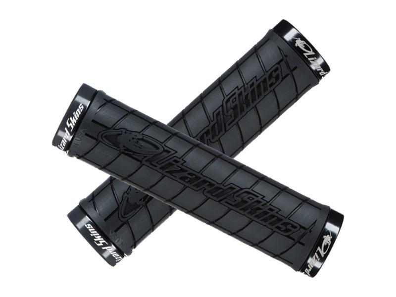 Chwyty kierownicy LIZARDSKINS LOGO LOCK-ON klamry czarne 130mm czarne (NEW)