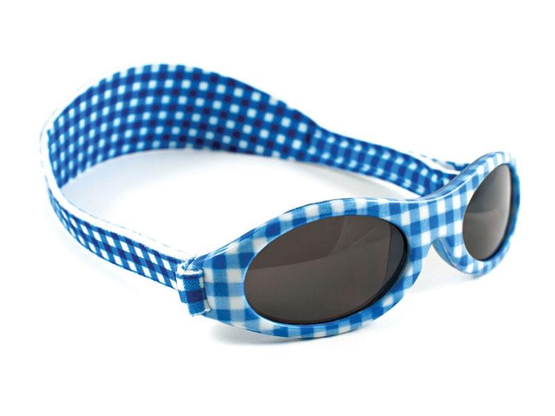 Okularki dziecięce OKBABY roz. 0-2 lata, błękitno-biała kratka