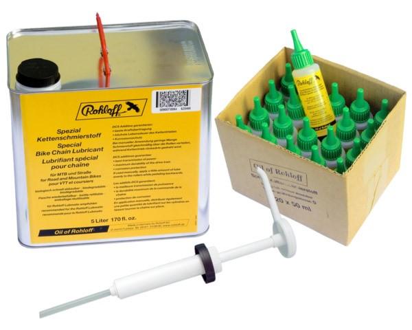 Zestaw Specjalny olej ROHLOFF (20x50ml + 1 x kanister 5 litrów + 1 x podajnik z pompką)