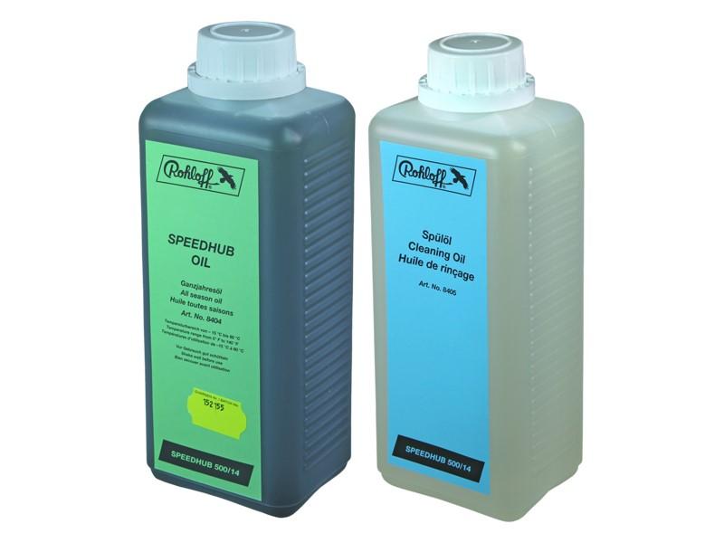 Zestaw do wymiany oleju w piaście ROHLOFF SPEEDHUB 500/14 (Olej całoroczny 1 litr + Olej czyszczący 1 litr)