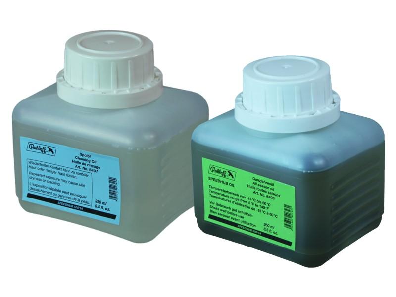 Zestaw do wymiany oleju w piaście ROHLOFF SPEEDHUB 500/14 (Olej całoroczny 250ml + Olej czyszczący 250ml)