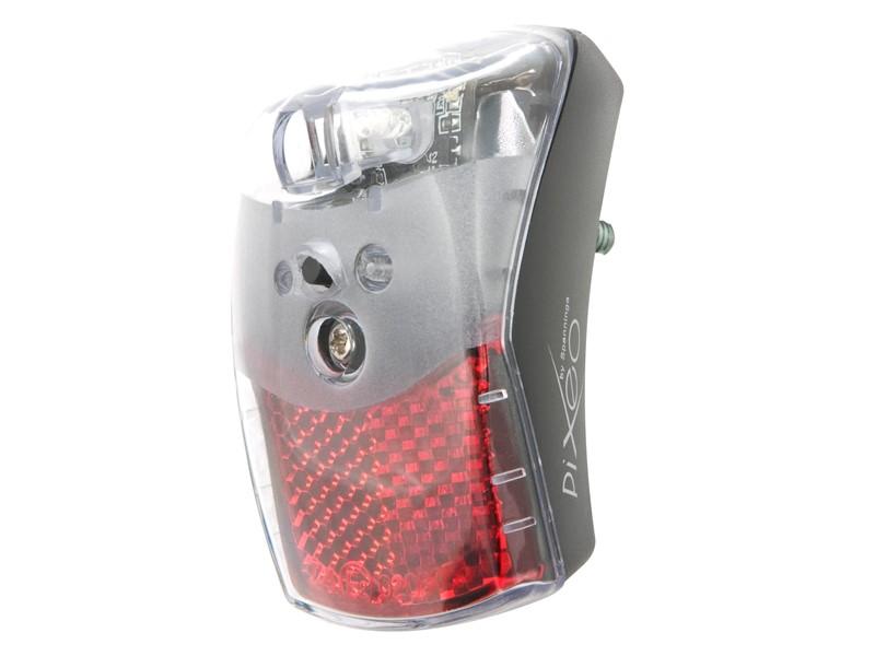Lampka tylna na błotnik SPANNINGA PIXEO XB + protektor czarna