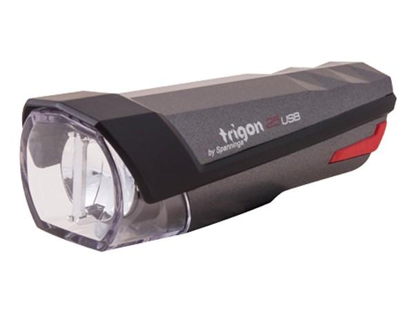 Lampka przednia SPANNINGA TRIGON 25 25luxów/100 lumenów usb czarna