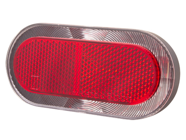Lampka tylna na bagażnik SPANNINGA ELIPS XB 80mm + baterie