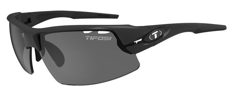 Okulary TIFOSI CRIT matte black (3szkła Smoke 15,4% transmisja światła, AC Red, Clear)
