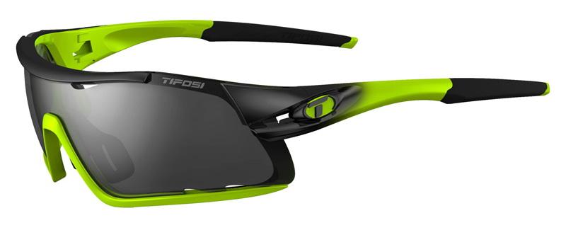 Okulary TIFOSI DAVOS race neon (3szkła 15,4% Smoke, 41,4% AC Red, 95,6% Clear) (NEW)