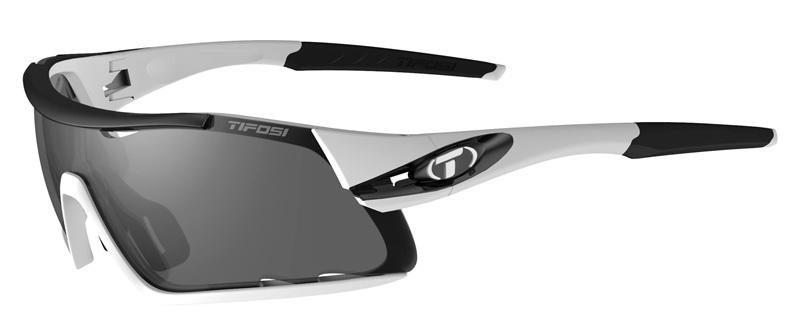 Okulary TIFOSI DAVOS white black (3szkła 15,4% Smoke, 41,4% AC Red, 95,6% Clear) (NEW)