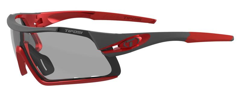 Okulary TIFOSI DAVOS FOTOTEC race red  (1szkło Smoke FOTOCHROM 47,7%-15,2% transmisja światła) (NEW)