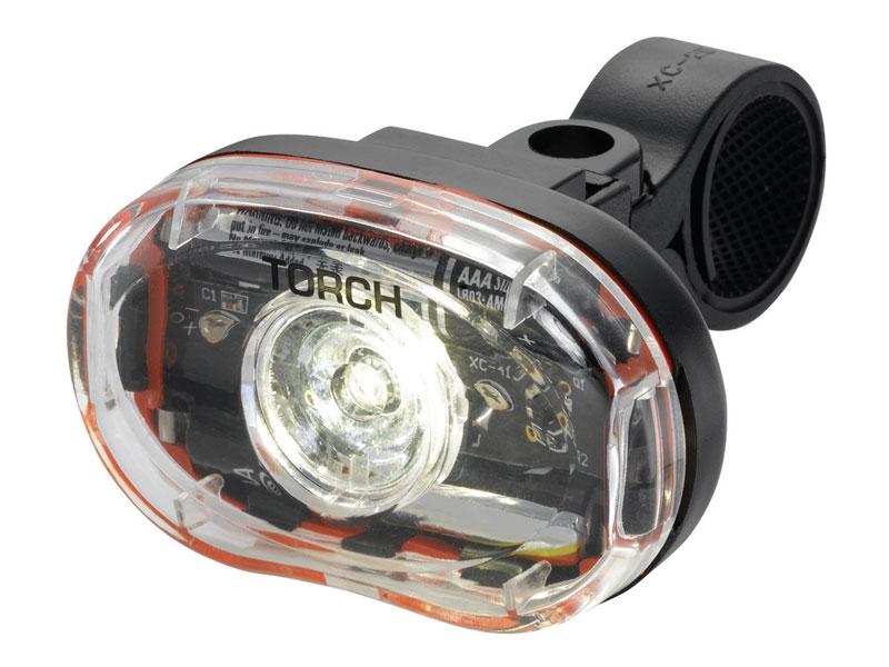 Lampka przednia TORCH WHITE BRIGHT 0.5W czarna