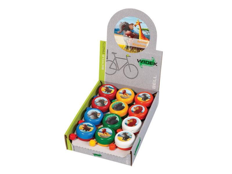 Dzwonek rowerowy WIDEK ANIMAL KINGDOM mix kolorów 12szt.