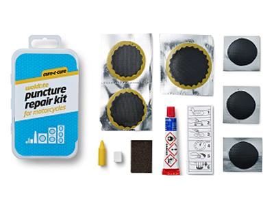Łatki do dętek zestaw WELDTITE CURE-C-CURE PUNCTURE REPAIR KIT FOR MOTORCYCLES 6x łatki pudełko 10szt.